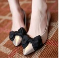 2015 new fashion Spring autunm women's casual flat shoes pointed toe bow ballerina shoes basic shoes