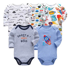 5 pcs/lot newborn bodysuit baby babies bebes clothes long sleeve cotton printing infant clothing 1pcs 0-24 Months