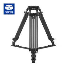 Big discount SIRUI BCT-3203 Film And Television Degrees Pro Camera Tripod Carbon Fiber Broadcast Video Tripod 3 Section DHL Free Shipping