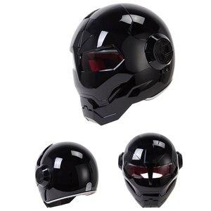 Image 2 - HEROBIKER בציר רטרו קסדת אופנוע Moto קסדת אופנוע מלא פנים קסדת Casco Moto קרוזר ופר הקפה רייסר Capacetes
