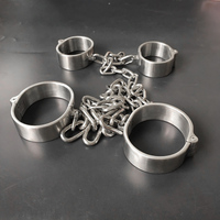 Black emperor brand handcuffs, feet handcuffs, stainless steel handcuffs, screws open, new styles, adult toys.