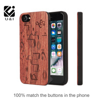 U&I Unique&Attractive Natural Retro Real Wood+PC+TPU Case for iPhone 6 6s 6Plus 6sPlus Full wood corners can protect 4 edge
