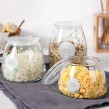 HIPSTEEN Versiegelt Glas Lebensmittel Jar Deckel Lagerung Glas Können Flasche Aufbewahrungsbox Tee Kaffee Zuckerbehälter für Küche Organizer