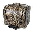 Grande de lujo de Almacenamiento Organizador Maleta de Viaje Caja de Almacenamiento de Cosméticos Leopard Vanidad Trolley de Viaje Bolsa de Belleza