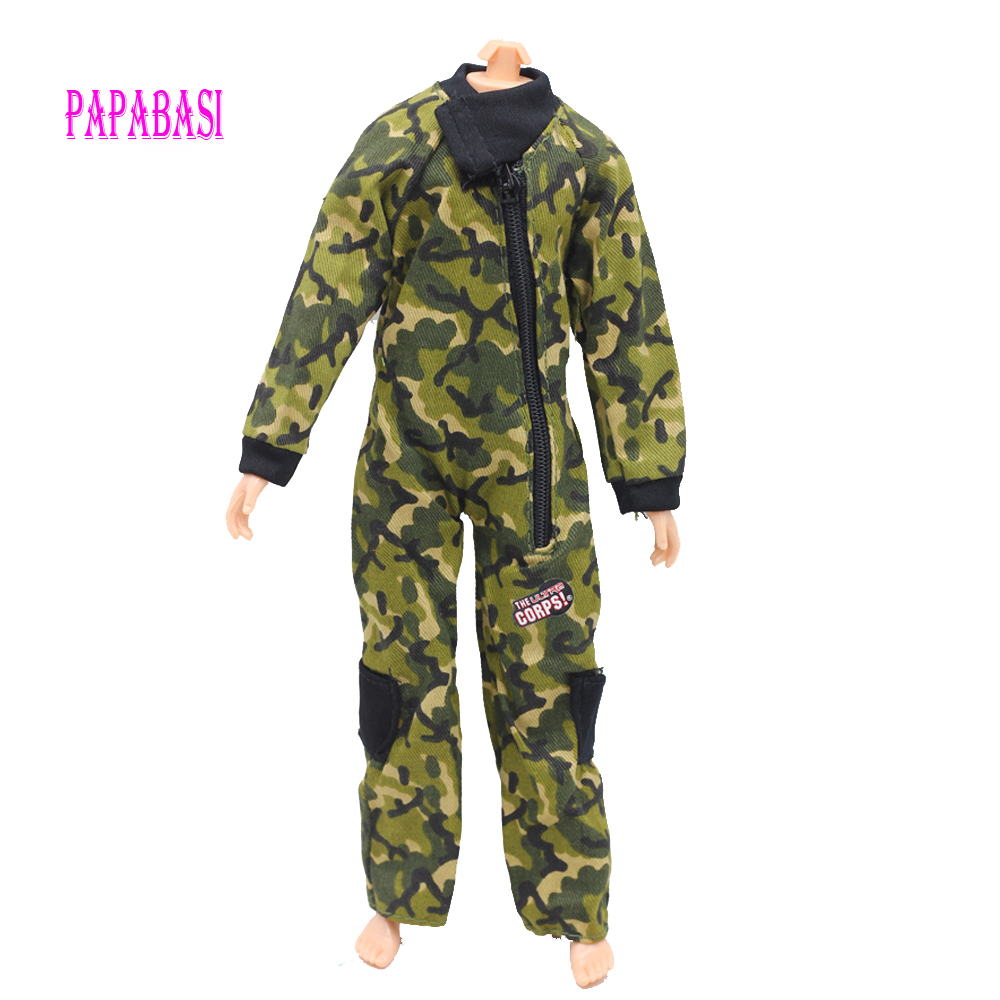 Original Doll Prince Clothes Marines Combat Uniform Outfit For Barbie Boy Male Ken Doll For Lanard 1/6 Soldier Best Gift G17