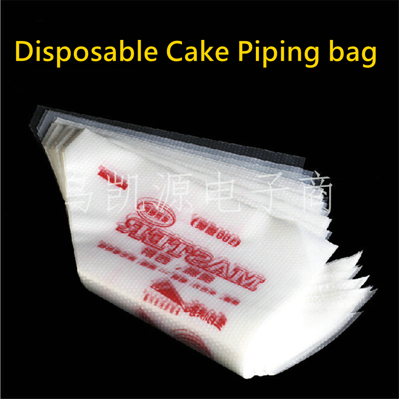 Pastry Bags Thickened Disposable Cream Cake Icing Piping Christmas Cupcake Decorating Bags of 100 Pieces Baking Bare Tools