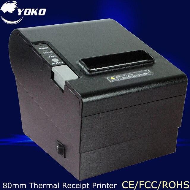 Высокое качество Термопринтер YK-8030 ROHM печатающей головки, PS/2 Интерфейс 80 мм принтер USB