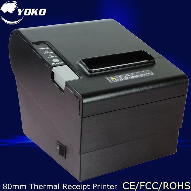 High quality Thermal Receipt Printer YK-8030 ROHM print head, PS/2 Interface 80mm printer USB