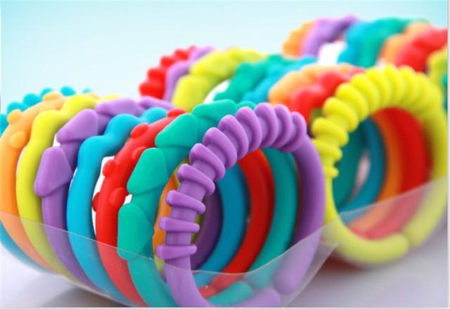 Rainbow Kids Molars Ring Teether Teddy Chain