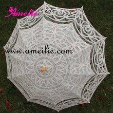 Горячие продажи Экрю Кружева Свадебные Зонты свадебные кружевные зонты