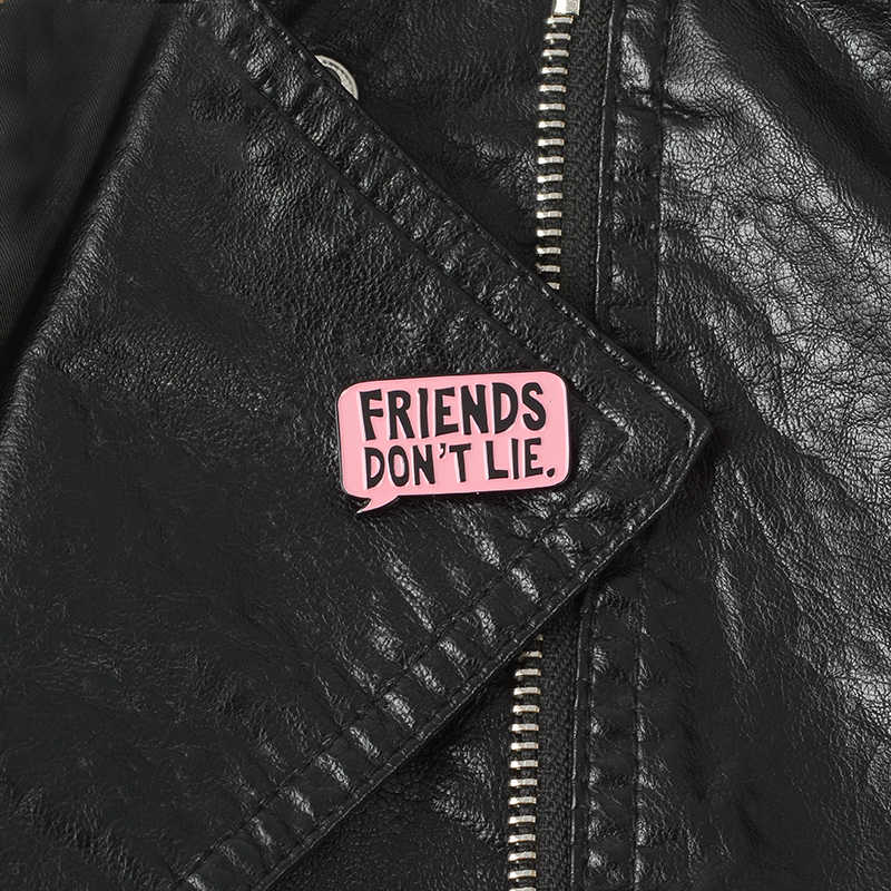 Hal Yang Aneh Eleven Pin Teman Tidak Berbohong Tangan Keras Enamel Pin Bros untuk Jeans Ransel Drop Pengiriman