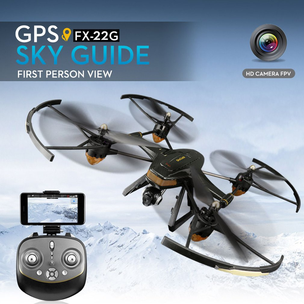 FX-22G Professional GPS Quadcopter Four-axis Aircraft With Wifi 720P/1080P HD Camera Drone Aircraft Aerial DroneFX-22G Professional GPS Quadcopter Four-axis Aircraft With Wifi 720P/1080P HD Camera Drone Aircraft Aerial Drone
