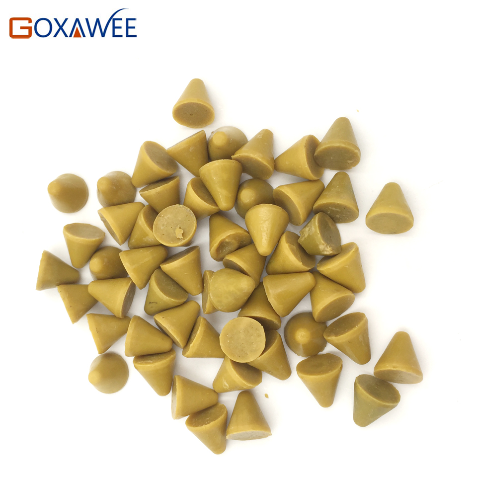GOXAWEE Resin Grinding Stone Abrasive tools Polishing Media for Vibratory Tumbler Jewelry Polishing Tools Plastic Beads 10mm 1KG  stone abrasive grinding plane stone flower pot base diameter 45 super wear