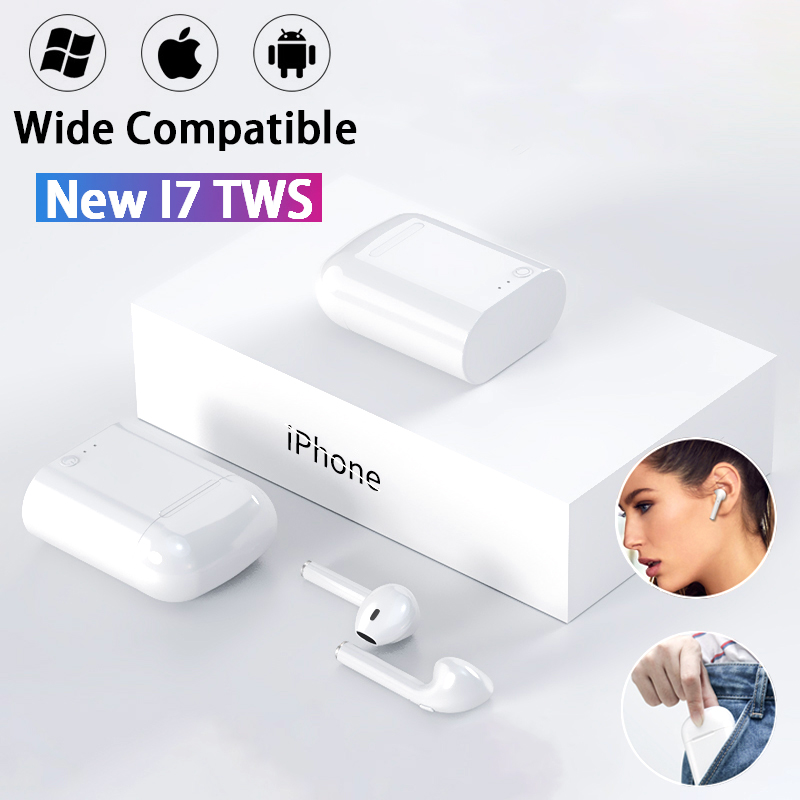 Original I7s TWS Wireless Headphones Mini Stereo Earbud Bluetooth Earphone For IPhone XiaoMi All Smart Phone With Charging Box(China)