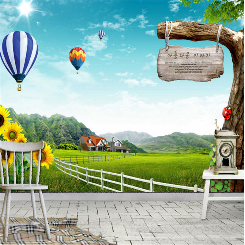 custom modern 3d photo high quality non-woven mural wallpapers natural scenery picture background wallpaper for kids' room beibehang modern luxury circle design wallpaper 3d stereoscopic mural wallpapers non woven home decor wallpapers flocking wa