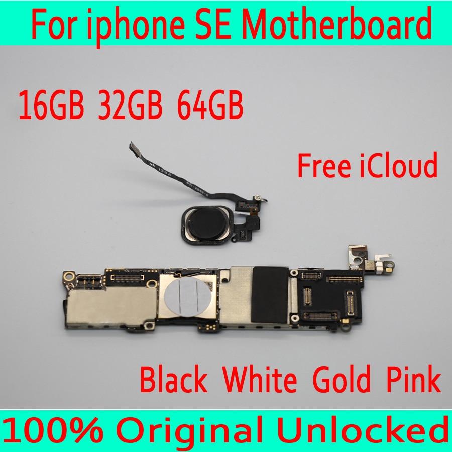 Noir/blanc/or/rose avec identification tactile pour la carte mère de l'iphone SE, Original débloqué pour la carte mère de l'iphone 5SE SE avec le système OS