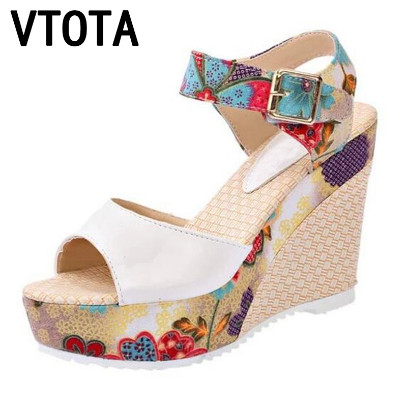 Vtota summer shoes women sandals sweet high heeled shoes for Fish head shoes