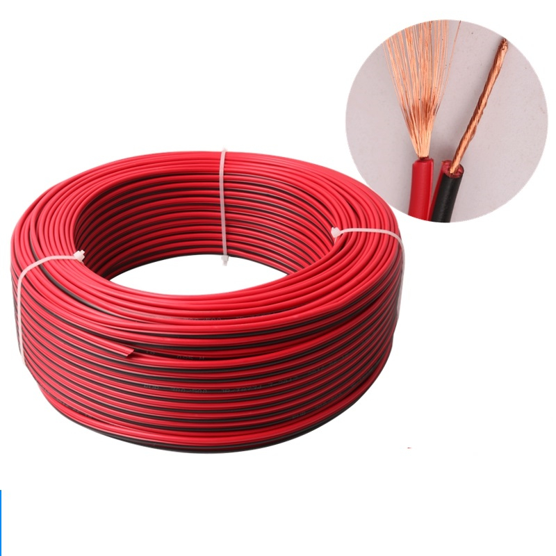 10meters/lot, RVB2*0.5 ,<font><b>20awg</b></font> PVC Insulated Wire, <font><b>2pin</b></font> Tinned Copper Cable, Electrical Wire For LED Strip Extension Wire image