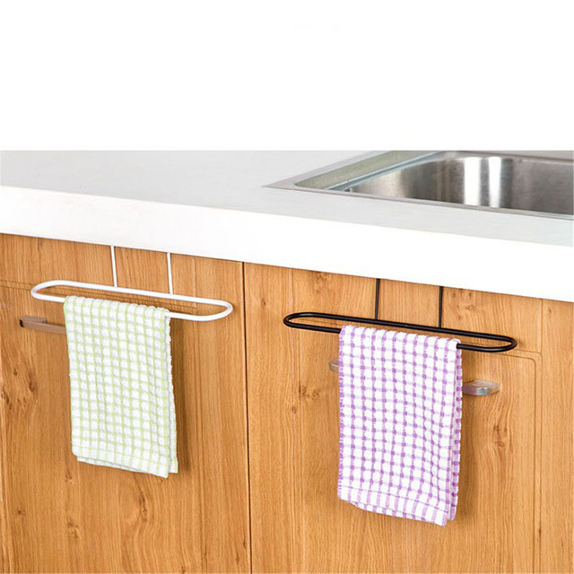 Us 2 8 16 Off Bathroom Iron Towel Rack Kitchen Cupboard Hanging Wash Cloth Organizer Sponge Holder Wardrobe Cabinet Storage Rack Shelves In Storage