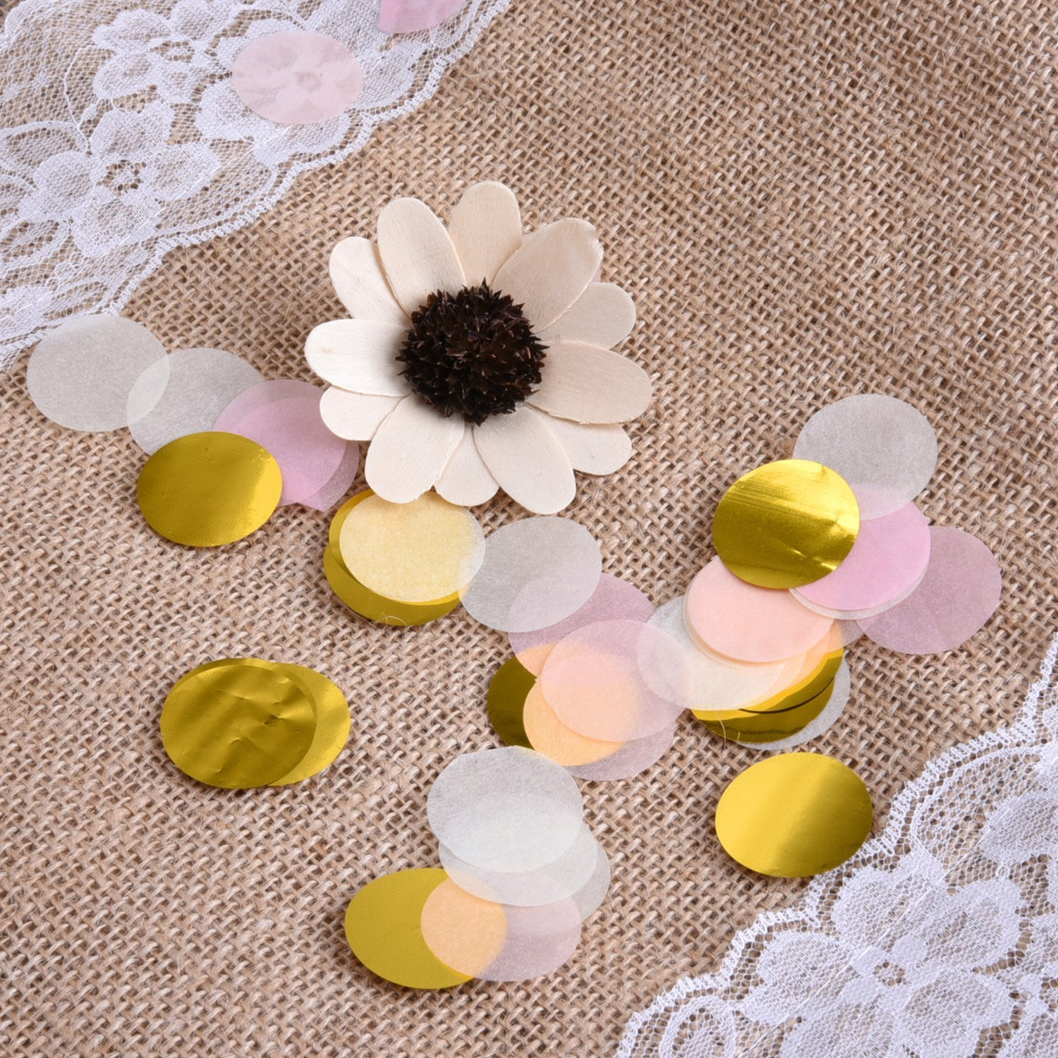 50g 5000+Pieces Paper Confetti 1 Inch Round Tissue Paper Table Confetti Dots for Wedding Party Decorations, Mixed Colors balony