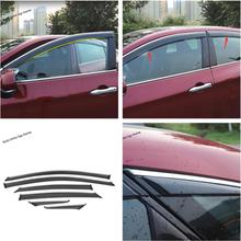 Yimaautotrims Window Visors Awnings Wind Rain Deflector Visor Guard Vent Cover Trim 6 Piece Exterior Fit For Toyota Avalon 2019