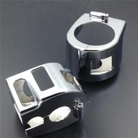 For Kawasaki 04 12 Vulcan 2000 06 12 Vulcan 900 Yamaha Road Star V star 650 Switch Housing Covers Motorcycle Parts CHROME
