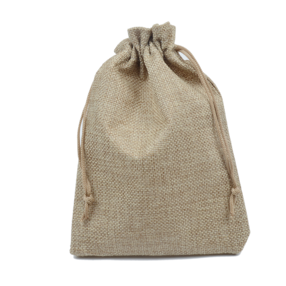 Us 54 59 100pcs 13x18cm Natural Color Jute Bag Burlap Drawstring Bags Candy Gift Jewelry Wedding Decoration For Coffee Beans Storage In