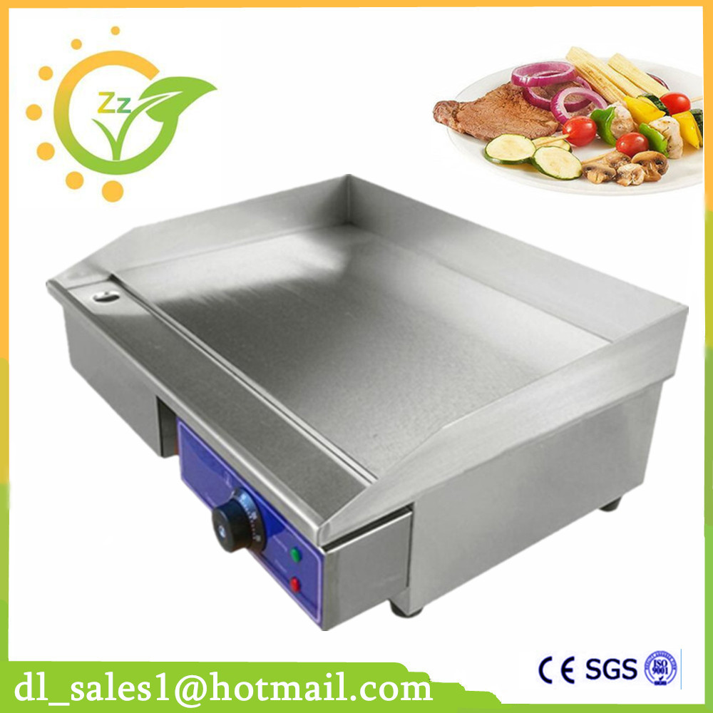 Brand New Commercial Stainless Steel Electric BBQ Griddle Flat Pan Grill Teppanyaki Dorayaki Griddle Machine