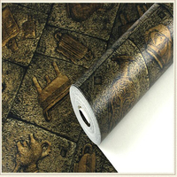 Beibehang 3D Wallpaper Personality Egyptian Culture Stone Wallpaper Classical Carving Room Living Room Bar PVC Wallpaper