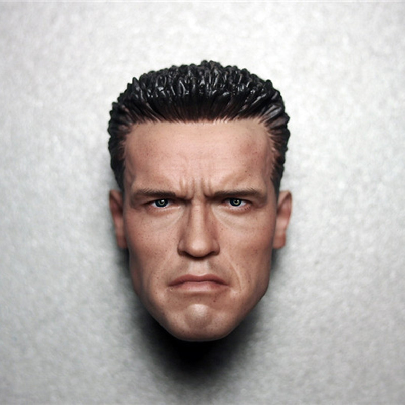 2 style 1/6 Scale Terminator Arnold Schwarzenegger Male Head sculpt Model Fit for 12 Action Figure Men Bodies gmasking terminator 2 t800 endoskeleton skull head statue scale 1 2 replica