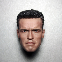 2 Style 1 6 Scale Terminator Arnold Schwarzenegger Male Head Sculpt Model Fit For 12 Action