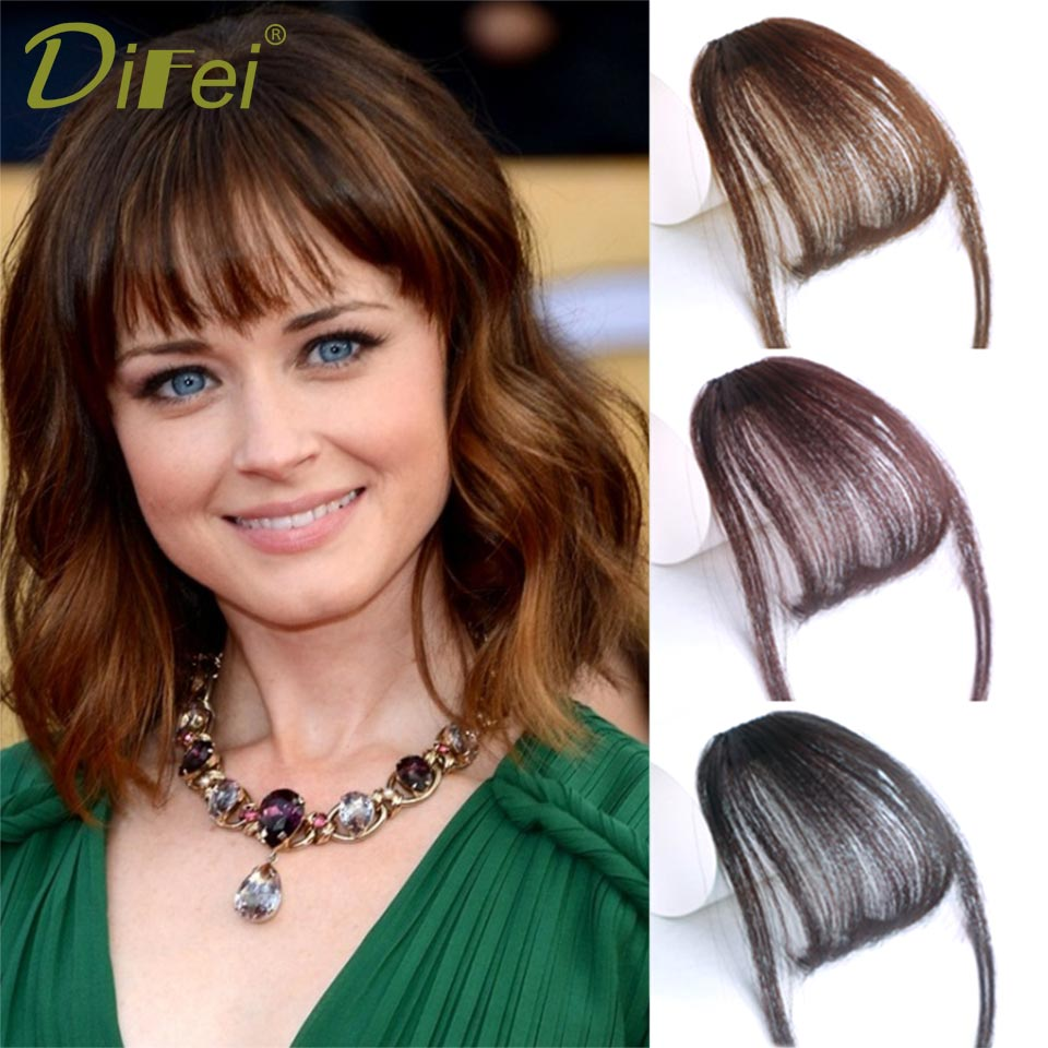 DIFEI Fashion Plus Short Synthetic Air bangs Heat Resistant s