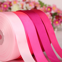 Satin Ribbon Solid Color Double Face 10/13/15/20/22/25mm For Handmade Gift Wrap Christmas&Wedding Party Decoration BBXW 026E