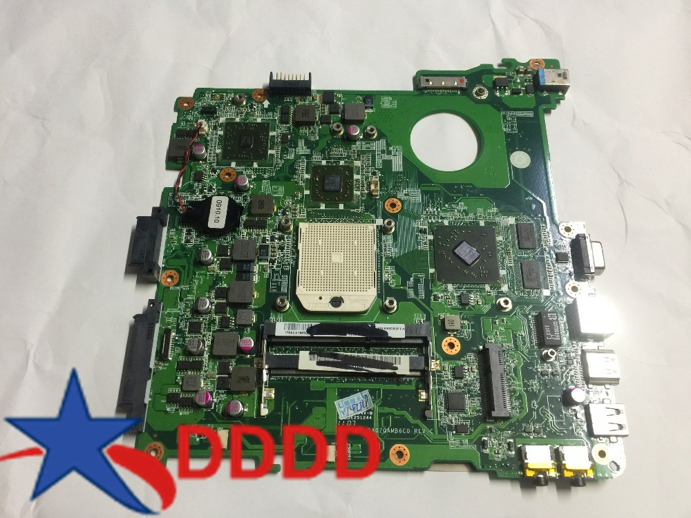 Original FOR Acer Aspire 4552 MBNBJ06001 MB NBJ06 001 DA0ZQAMB6C0 DDR3 laptop motherboard fully tested AND