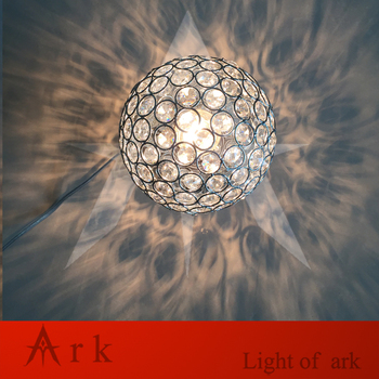 MeetingLight DESAIN BARU Dia 15 cm Chrome Naungan kristal Bola E27 Lampu meja sihir fantasy Pencahayaan