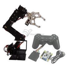 Robot 6 DOF Aluminium Clamp Claw Mount kit Mechanical Robotic Arm & Servos & Controller