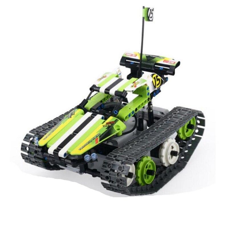353 pcs Technique Militaire Caterpillar Réservoir Stunt Car Télécommande RC Électrique Blocs de Construction Assemblés Compatible Avec legoings