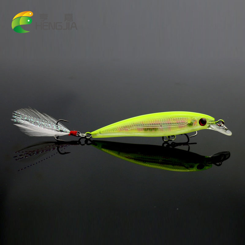 HENGJIA 1pc 7.2g 9cm fishing wobblers laser Minnow Fishing Lure pesca swimbait tackle hooks crankbait isca artificial hard bait