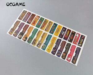 Image 2 - לקוחות עיצוב עבור Nintendo Gameboy Advance תווית מדבקת Lable עבור GBA קונסולה חזרה תג 28 יח\חבילה = 1 סטים