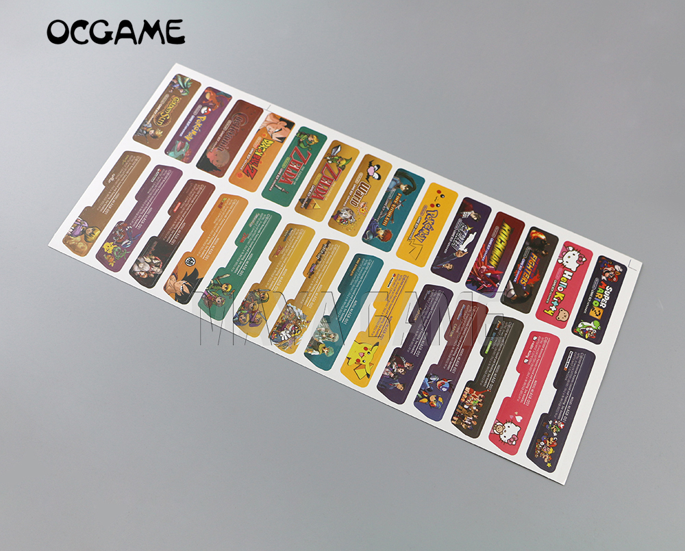 OCGAME Customer Design For Nintendo Gameboy Advance Label Sticker For GBA Console Back Tag 28pcs/lot=1sets