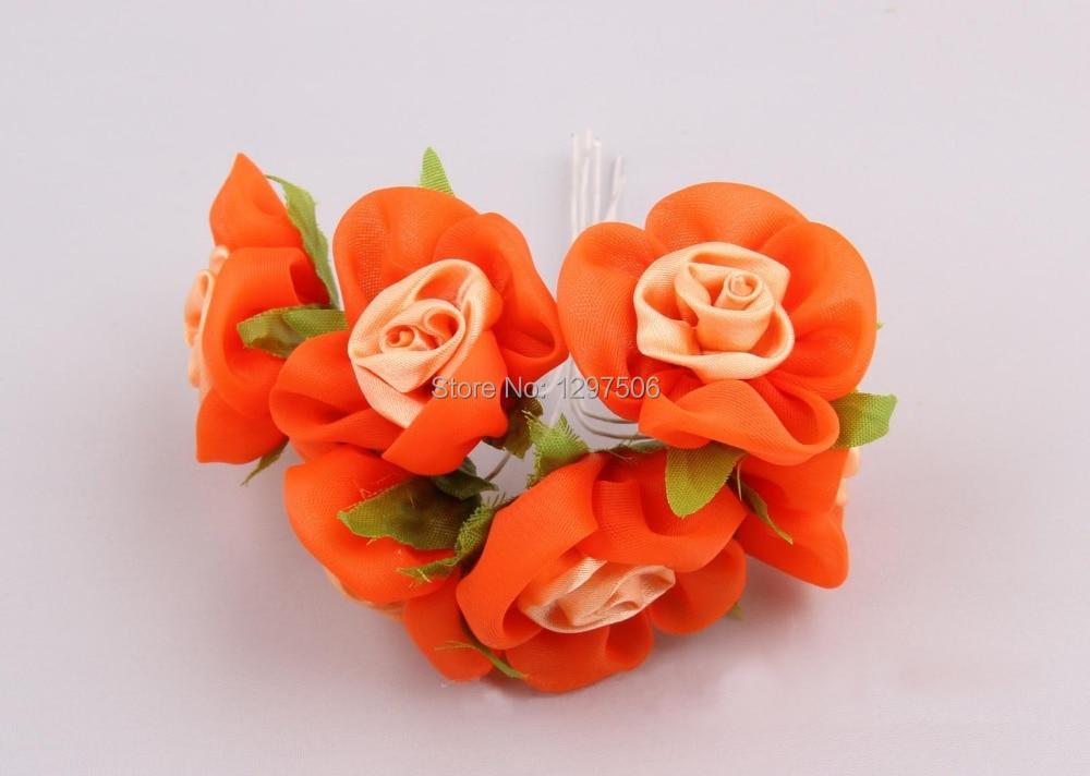Frilly Ribbon Fabric Flower Diy Bookmark