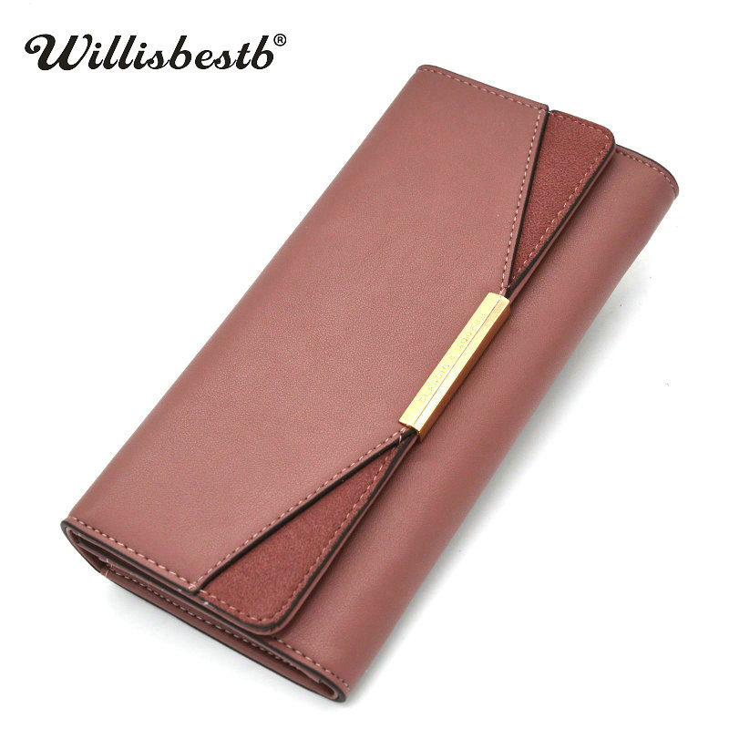 New 2018 Design Purse For Women Wallets Female Brand Long Hasp Woman Wallet Ladies Leather Clutch Card Holder Portefeuille Femme new fashion women leather wallet deer head hasp clutch card holder purse zero wallet bag ladies casual long design wallets