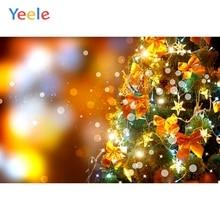 Yeele Christmas Photocall Bokeh Lights Decor Party Photography Backdrops Personalized Photographic Backgrounds For Photo Studio стоимость