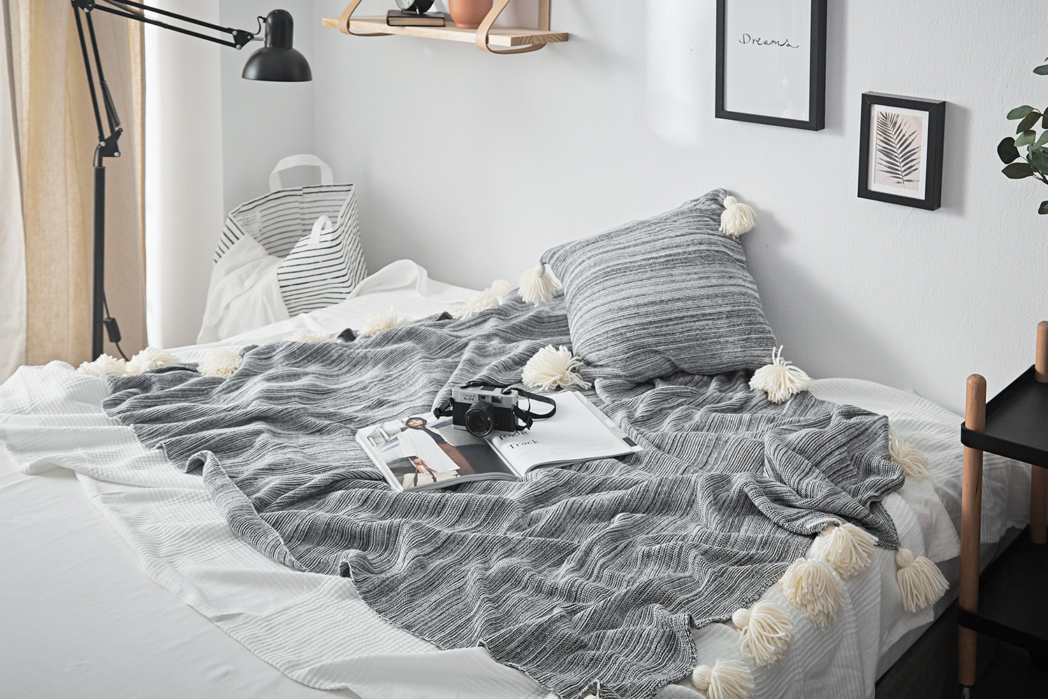 Awesome Cobertor Knitted Blanket On The Couch Cotton Throws Sofa Plane Travel Plaids Fashion Orange Blue Grey For Bedroom White Fuzzy Blanket Black And White Uwap Interior Chair Design Uwaporg