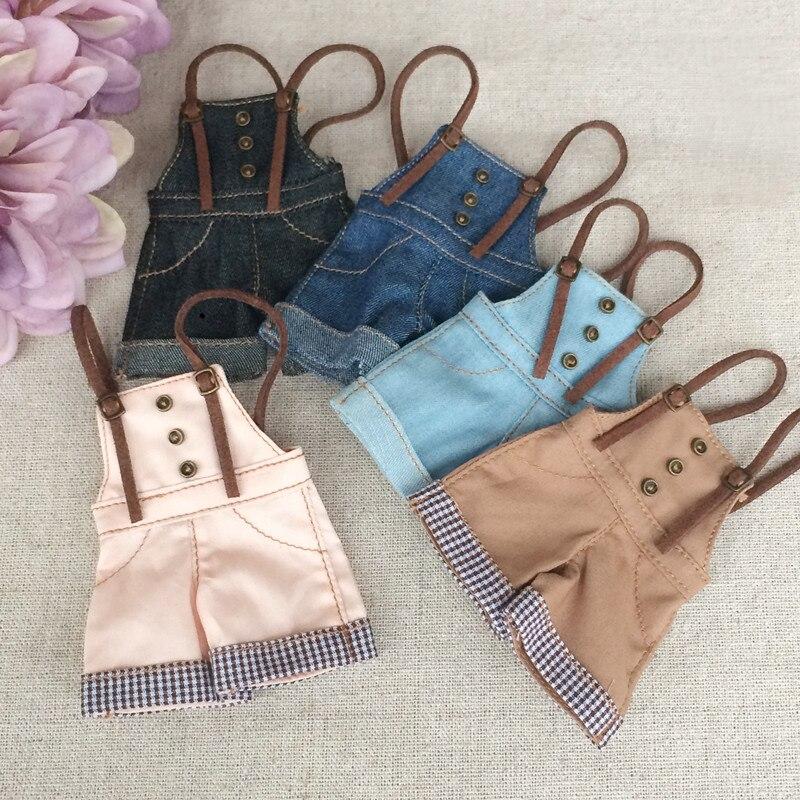 1/6 Fashion Blyth Doll Clothes T-shirts Bib Pants Doll Accessories Blyth Clothing For Azone Licca Momoko Doll Accessories