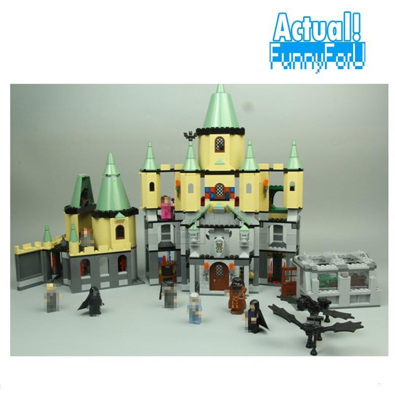 LEPIN 16029 Hogwarts Castle Classic Movie Building Block Bricks Toys Enlighten For Boy oyuncak 1033PCS Compatible legoINGly 5378 china brand 16029 educational bricks toys diy building blocks compatible with lego hogwarts castle 5378