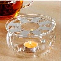 La fourniture de verre résistant à la chaleur thé ensemble de base de chauffage en verre de thé chaud thé parfumé pot ensemble isolation à fond rond
