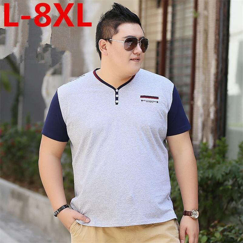 plus size 8XL 7XL6XL Solid color Cotton T Shirt Mens Gray blue T-shirts 2018 Summer Skateboard Tee Boy Hip hop Skate Tshirt Tops