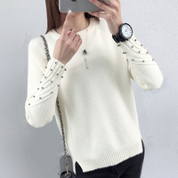 Jumper Autumn 2017 New Spring Korean Short All Match Winter Sweater Knitted Shirt With Long Sleeves