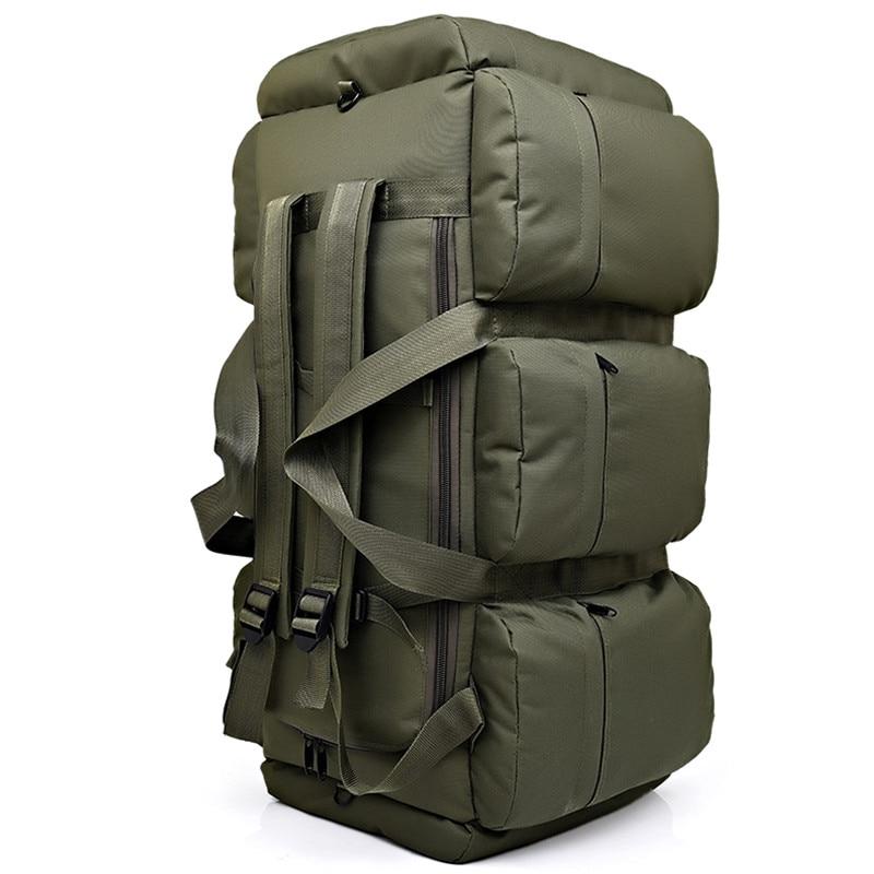 Sac à dos tactique militaire pour hommes de grande capacité 90L sac à bandoulière étanche pour bagages à main sac à bandoulière Oxford randonnée Camping sac de voyage - 3
